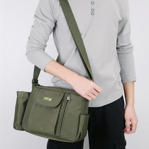 Business Men's Backpack Slanted Shoulder Slung Men's Bag Casual Nylon Slanting Shoulder Bag