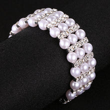 Newest Fashion Pearls Austrian Crystal Bracelets & Bangles Women Wedding Party Jewelry Accessories Charms Cuff Bracelet