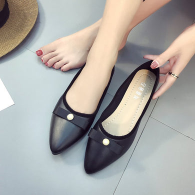 Spring And Autumn Version Of The New Korean Version Of A Lazy Man Shoes Work Women's Shoes