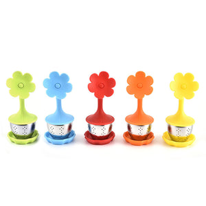 Colorful Silicone Tea Filter Stainless Tea Filter
