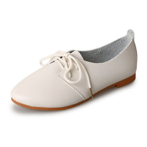 Genuine Leather Flat Bottom  Shoe Girl's New Version Of The New South Of Spring And Summer