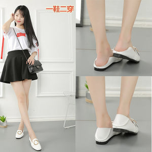 The New Korean Version Of The Shoe Ladies' Shoes Are Stylish And Half Worn