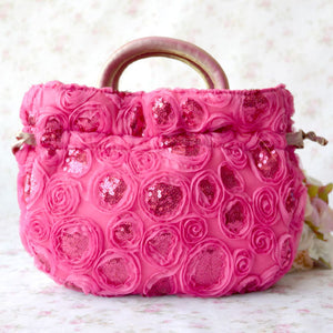 Sequin Detailed Small Size Teacup Bags Change Handbags