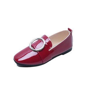 New Spring And Summer European And American Street Flat And Casual Shoes Women's Round Buckle Low Bottom Shoes