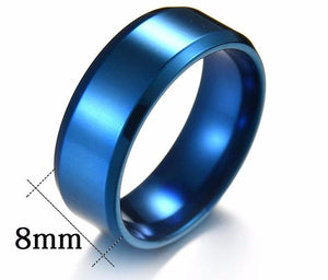 Titanium Steel Ring Wholesale Manufacturer Polishing Mirror 8MM Simple Stainless Steel Men's Ring