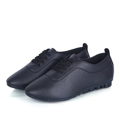 Spring New Pure Color Leather Small White Shoes Students Fashion Trend Casual And Casual Wear Casual Shoes