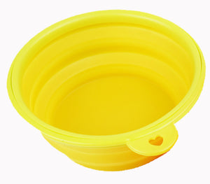 Silica Gel Folding Bowl Pet Out Of Water Bowl Advanced Dog Bowl Extended Travel Bowl