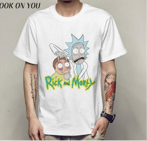 Rick and Morty homens camiseta Anime Camisetas Paz entre mundos folk camiseta homme Rick e Morty T-shirt Dos Homens Camisetas