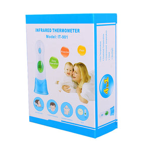 Protable Tester 4 in 1 Infrared Thermometer For Baby Adult Digital Display Body Forehead Ear Multifunctional Meter