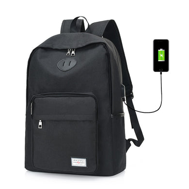 Unisex Style Laptop Backpack with Extenal USB Charger Campus Fashion