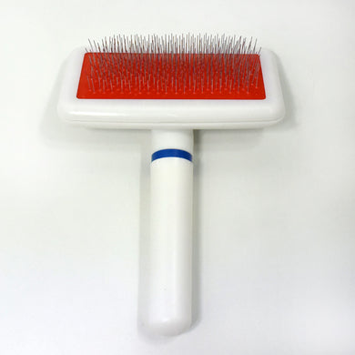 White Handle Comb Is Combed And Combed With Pet Dog Comb Dog Comb
