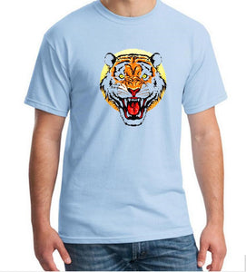 Wild Tiger Head T-Shirt Men's Fashion Cool T Shirt Famous Brand Cotton O Neck Tee Shirts 3D Print Tiger Tshirt Boy
