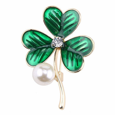 Lucky Leaves Design Alloy Women Brooch
