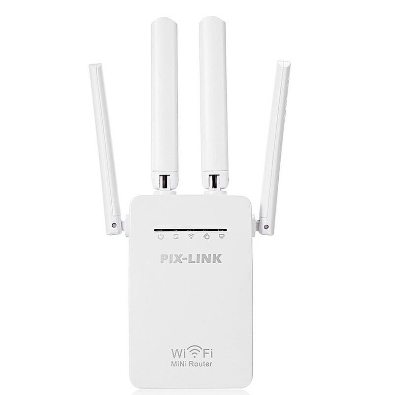 Wholesale 4 Antenna 300M Wireless Signal Amplifier Four Antenna Repeater