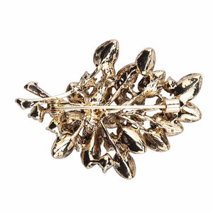 Alloy Flowers Branch Design Women Brooch