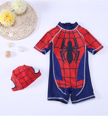 Swimwear Children Boy Swimsuit Two Piece Bathing Suits Swimming Suit Long Sleeve Cartoon Kids Beach Red Blue Surfing