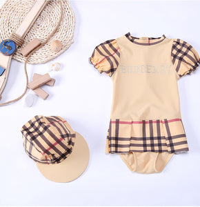 Bikini Kids Children's Swimwear Junior Girls Swimsuit Swimwear Girls Kids Summer New Children Baby Drying 3033 Plaid