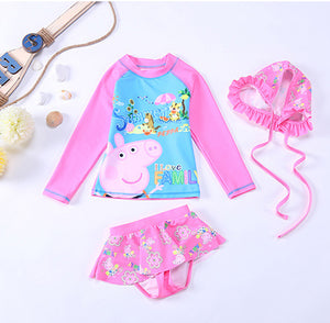Kids Swimwear For Girls 2018 Swimwear Girl Children Children Girls Bikini Swimsuit New Swimsuit Girl Big Baby Long Sleeve