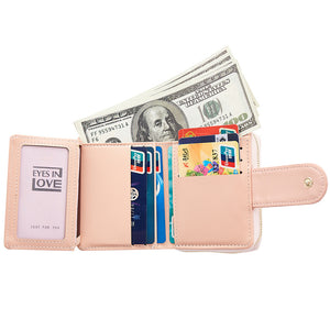 New Version Of The New Women's Wallet Fashion Contracted With A Zippered Purse