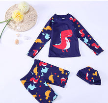 Cartoon Children Boys Girls Long Sleeve Swim Wear Baby Kids Printed Swimsuits Beach Two Pieces With Swimming Bathing Suit