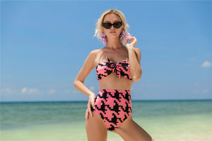 European And American Sexy Bikini Bottom Black Swimsuit Suit Swimsuit