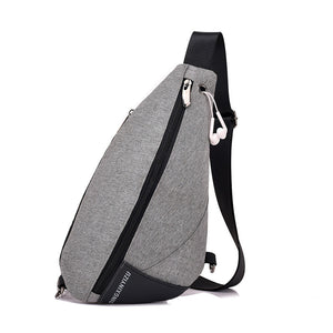 Men's Polyester Chest Bag Fashion Movement Single Shoulder Bag Drop Bag Headphone Hole