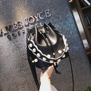 Women Bucket Bags PU Leather Quality Fashion Bags With Cell Phone Pockets