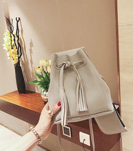 Tassels Women Fashion Bucket Mini Handbags Female Causal Messenger Bags Contrast Color Bags