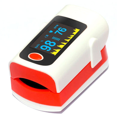Pulse Oximeter SPO2 PR PI 3 Parameters Alarm+Beep 8Hours Data Recorder Blood Oxygen Saturation Monitor Case