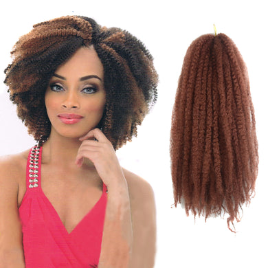 Pre-Colored Human Hair Weave Afro Kinky Curly Hair Strawberry Blonde Color Piano Color Auburn