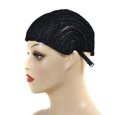 Cornrows Wig Caps With Clips Easy Wig Making,Elastic Dome Wig Cap Wholesale Glueless Hairnet Synthetic Twist Braiding Hair