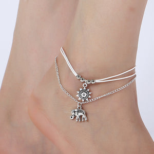 Female Anklets Barefoot Crochet Sandals Foot Jewelry Leg New Anklets On Foot Ankle Bracelets For Women Leg Chain