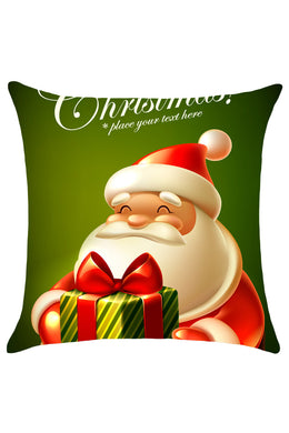 Adorable Cartoon Santa Christmas Throw Pillow Cover