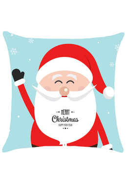 Amiable Cartoon Santa Christmas Throw Pillow Cover
