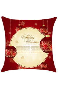 Best Wishes Merry Christmas Card Print Throw Pillow Cover