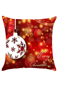 Christmas Baubles Pattern Square Pillow Case