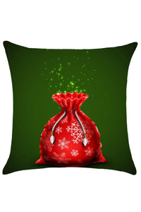 Christmas Gift Bag Pattern Decorative Pillow Case