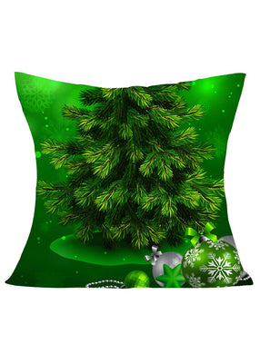 Christmas Pine Print All Green Pillowcase