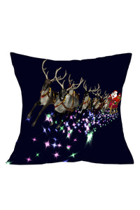 Christmas Santa Flying Navy Cushion Pillow Cover