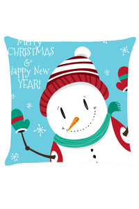Christmas Snowman Greeting Pillow Cover