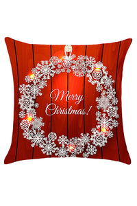 Christmas Snows Wreath Pattern Decorative Pillow Case