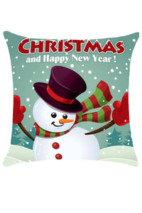 Christmas and Happy New Year Print Pillowslip