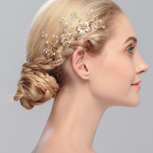 Fashion Girls Womens Hairpins Elegant Crystal Wedding Bridal Hair Comb Hair Accessories Gold /silver