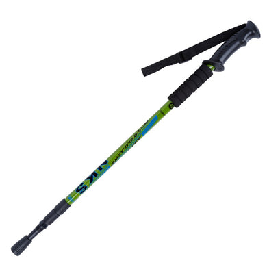 Straight Grip Handle Outdoor Trekking 3 Joint Hiking Pole Aluminum Alloy Nordic Walking Sticks Telecopic Stick Camping Equipment