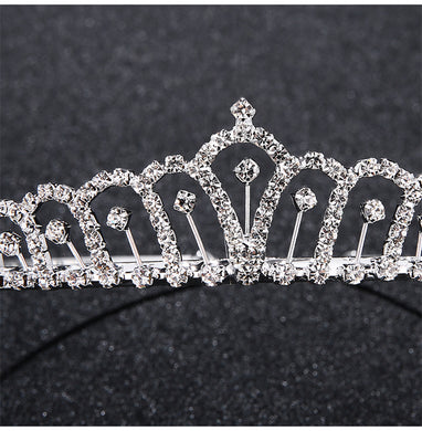 Crystal Rhinestones Tiaras Bridal Crown Hair Accessories Tiara Headpiece Prom Party Headwear Princess Pageant Prom Rim for Hair