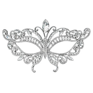 Baroque Butterfly Type Austrian Crystal Women Masks Halloween Metal Masquerade Ladies Face Jewelry Decorations for Party