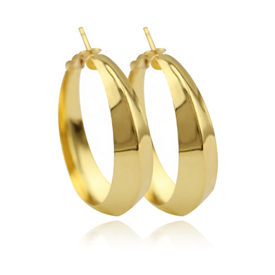 Hiphop Big Round Circle Hoop Earring For Women Geometric Gold Tone Statement Earrings FashionJewelry Brincos Gifts