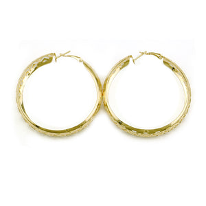 Fashion Gold Big Round Circle Hoop Earring For Women Geometric Hollow Earrings Statement Jewelry Brincos Gifts