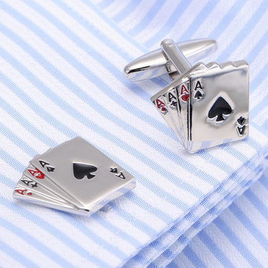 Poker A Gemelos Cufflinks Wedding Gift Cuff links Poker Designer Cuffling Men Jewelry