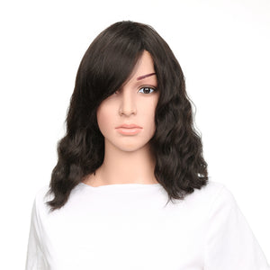 Hot Sales Lady Black Chemical Fiber High Temperature Oblique Short Hair Bangs